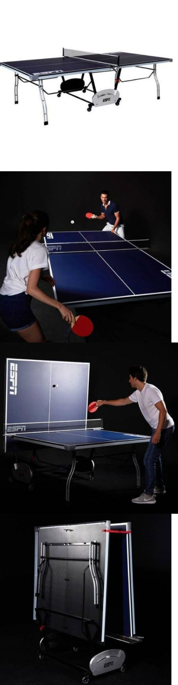 Tables 97075: Game Room Table Tennis Fold Up Sports Billiard Outdoor Portable Tournament Espn -> BUY IT NOW ONLY: $237.9 on eBay!