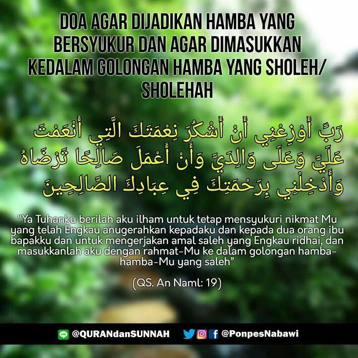 Doa Agar Dijadikan Hamba Yang Bersyukur...