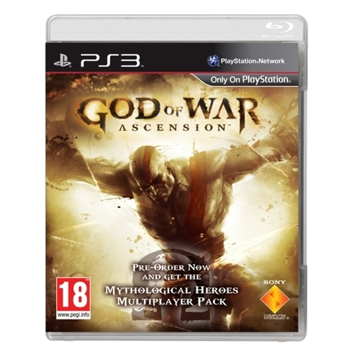 God Of War Ascension PS3 With Mythological Heroes Multiplayer Pre-order Pack. Released March 13.$64.98