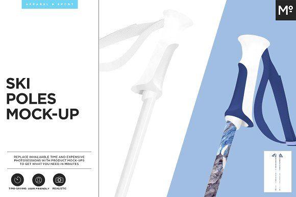 Ski Poles Mock-up by Mocca2Go/mesmeriseme on @creativemarket