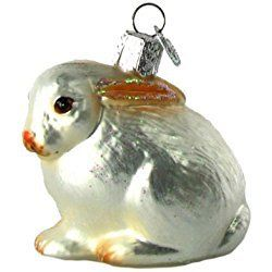 Old World Christmas Cottontail Bunny Ornament, White