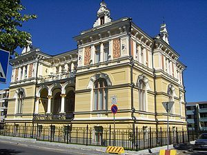 'The Little Palace' (Pikkupalatsi) is over 100 years old former residence of the janitor of Finlayson factory - Pikkupalatsi on yli 100-vuotias vastikään restauroitu entinen Finlaysonin tehtaan isännöitsijän asunto, Tampere, Finland