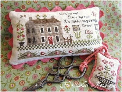 The Scarlett House pin keep pillow