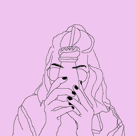 девушка, розовый