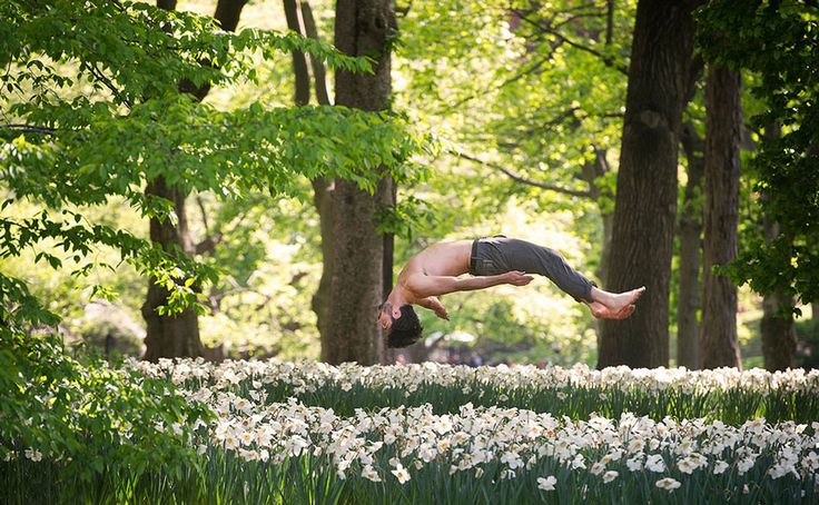 dancers among us |  Dancer levitating above a meadow
