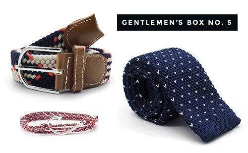 The Dapper Gentleman's Box No. 5 #gentlemen #dapper #belt #tie #bracelet #gift #forhim