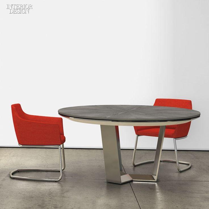 Kasper Salto's Pluralis table in aluminum by Fritz Hansen.