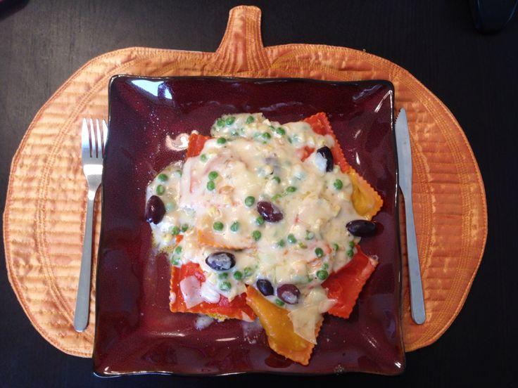 Receita de outono: ravioli de abóbora. Casa pronta e decorada para celebrar a Pumpkin Season.