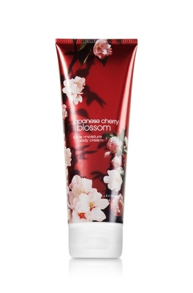 The best stuff that has ever been made. Ever. Japanese Cherry Blossom triple moisture body cream from Bath and Body Works.