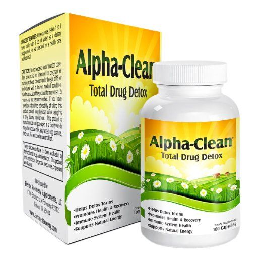 Alpha Clean is Ideal for detoxifying prescription drugs or over-the-counter substances like caffeine, sugar, alcohol, nicotine, etc... Helps your body detox to speed up the recovery process. Promotes the restoration of natural energy levels Professionally formulated with: Goldenseal Root, Burdock Root, Red Clover, Yellow Dock, Beet Powder, Bentonite Clay, Milk Thistle | All-Natural Drug Detox Cleanse $35.00