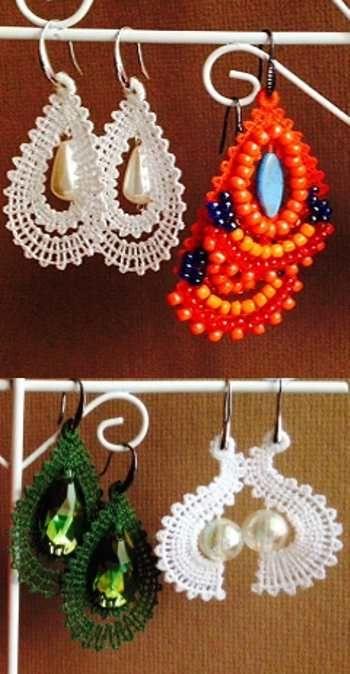 Advanced Embroidery Designs - FSL Battenberg Earring Set