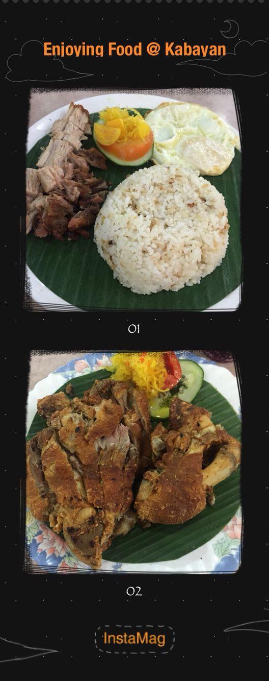 Crispy pata & Leechon Kawali with Egg  Philipines food @ Kabayan 3 fl Lucky Plaza Singapore