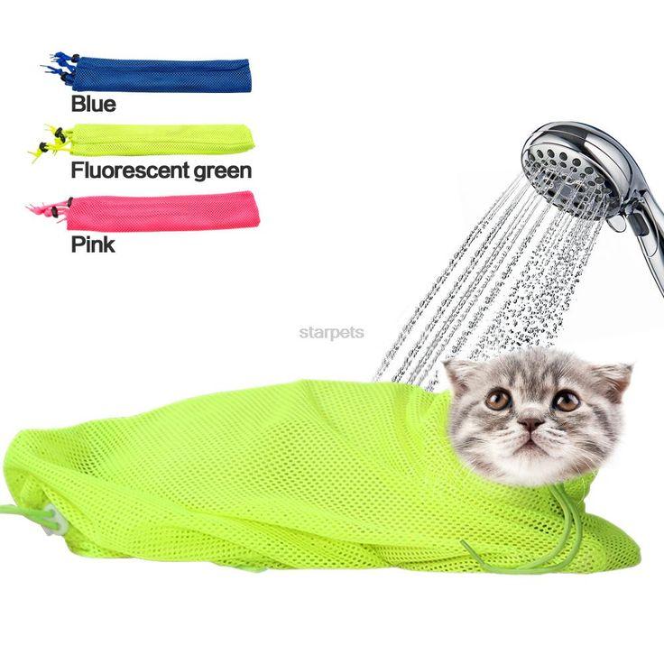 Nova Malha Gato Grooming Banho Saco Não Coçar Mordendo Examing Contenção para Injetar Banho Aparamento Do Prego em Produtos par ao pelo do gato de Home & Garden no AliExpress.com | Alibaba Group