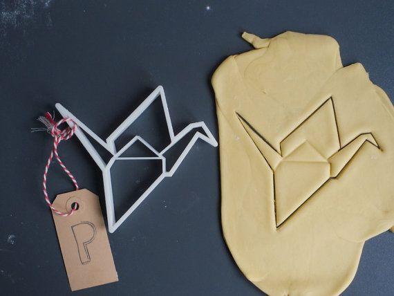 Origami gru taglierina del biscotto 3D stampato di Printmeneer