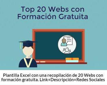 Top 20 Plataforma Online con Formación Gratuita de Alto Standing. #formacion #cv #curriculum #cursos #mooc
