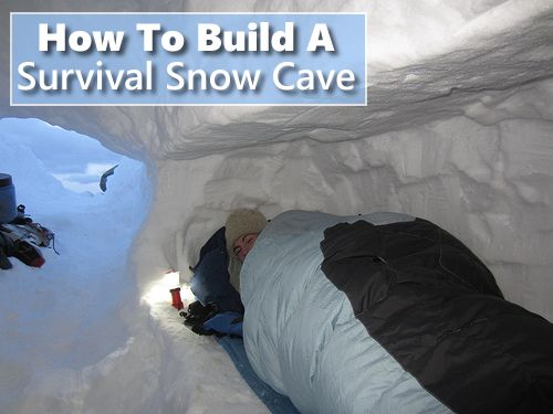 How To Build A Survival Snow Cave - keeps you warm during the cold winter nights... #shtf #emergency #survival #shelter