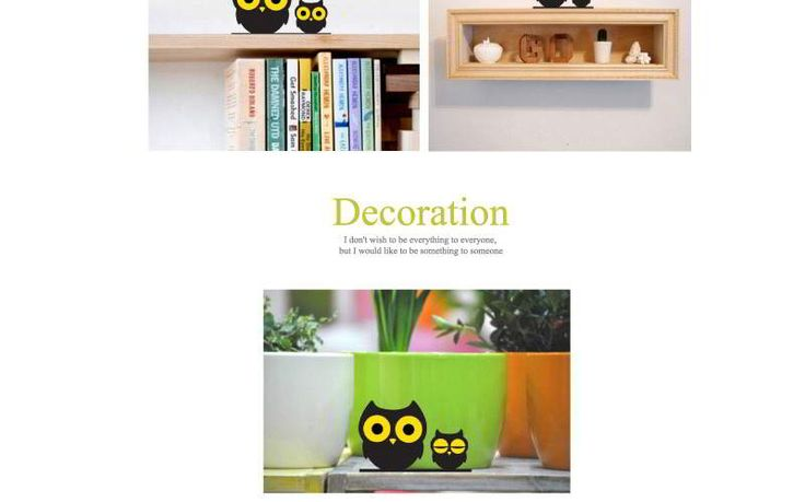Owl Home Furnishing Articles Black+yellow,Simple and must have it! REPIN if you love it.😍  Only 31 IDR