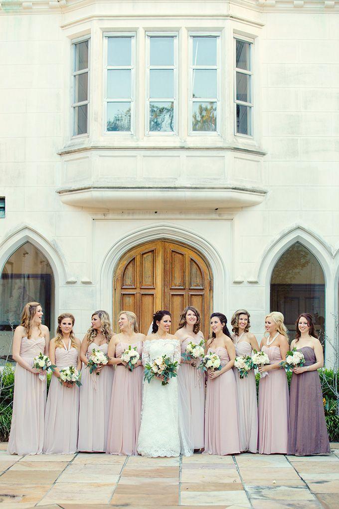 dusty rose bridesmaids | Mark Eric Photography | Glamour & Grace