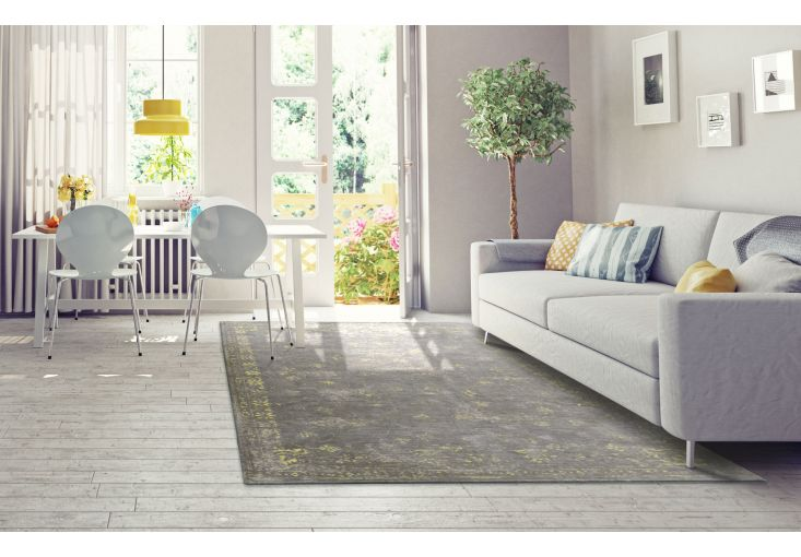 Dywany Very :: Dywan naturalny vintage 8247 GreyFlannel - żółto szary - Carpets&More - wysokiej klasy dywany i akcesoria tekstylne