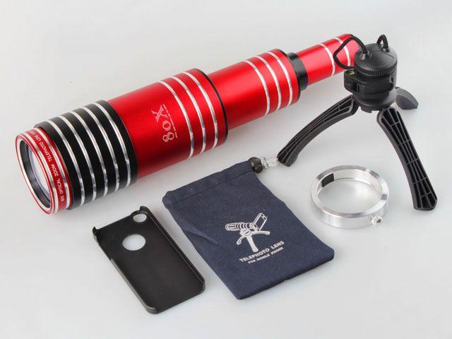 Un téléobjectif de 80mm pur smartphone ! On le trouve chez Amazon ou ches le fabricant Brando http://shop.brando.com/Telescope_c1597d066