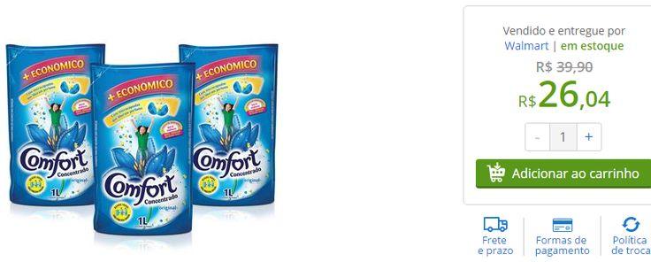 Kit com 3 Amaciantes Comfort Concentrado Embalagens Econômicas 1L << R$ 2604 >>