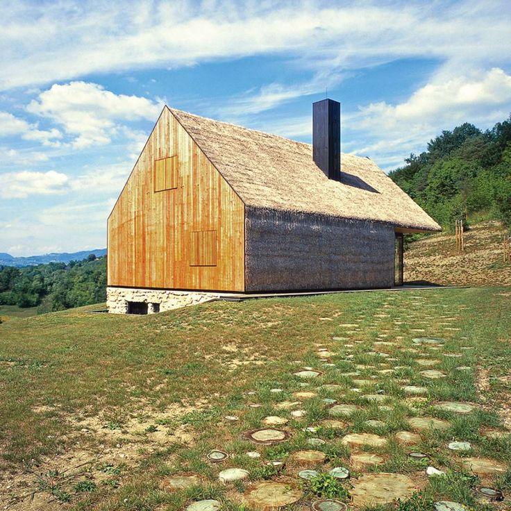 Contemporary Interpretation Of A Traditional Zagorje Cottage By PROARH Kumrovec Croatia The Preexisting Organic ArchitectureModern