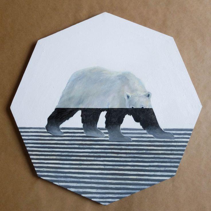 """""""Polar bear"""", Acrylic on canvas, 60x60  cm., 2017"""