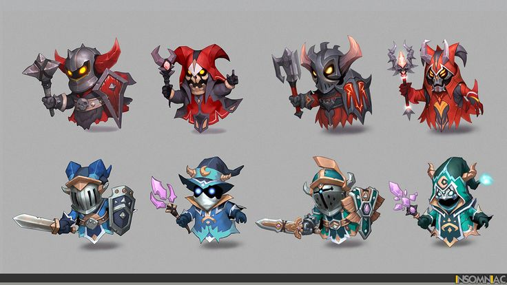 melee & caster minions