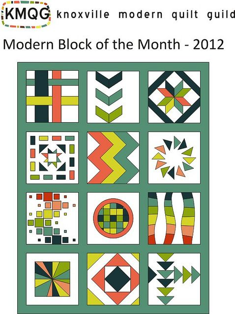 instructions for each block....KMQG Block of the Month 2012 by Miss Emily D, via Flickr