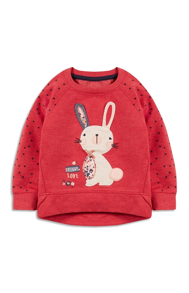 Primark - Red 3D Bunny Sweater