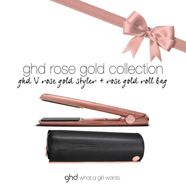 GHD rose gold hair straightener