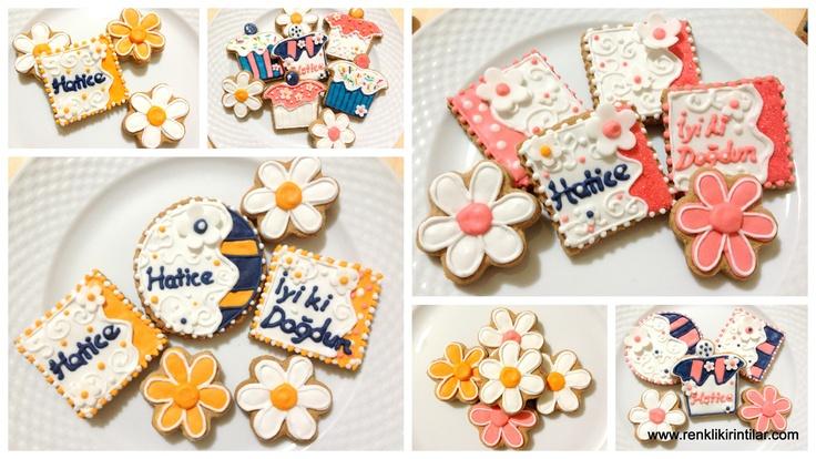 Çiçekli doğum günü kurabiyeleri - 02