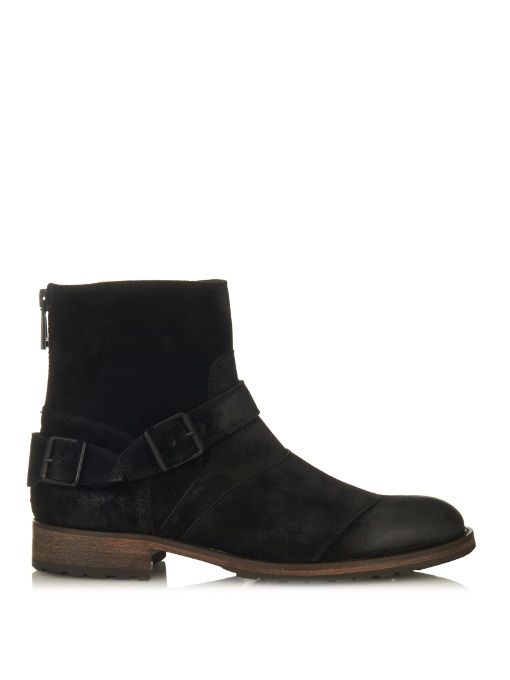 BELSTAFF Trialmaster brushed-suede boots. #belstaff #shoes #boots
