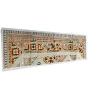 Mogul Vintage Flower Embroidery Table Runner Party Decor Ivory Table Throw Tapestry Image 1 of 2    https://www.walmart.com/search/?cat_id=0&grid=true&query=mogul+interior+table+runner+#searchProductResult