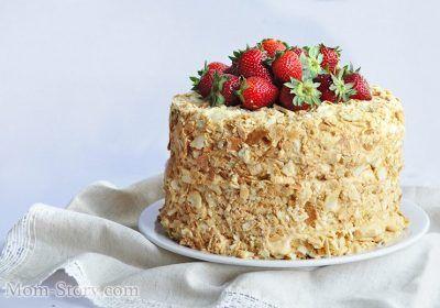Очень вкусный торт Наполеон со сгущенкой рецепт с пошаговыми фото. Миллион тоненьких слоенных коржей и нежный крем с вареной сгущенкой, ммм...