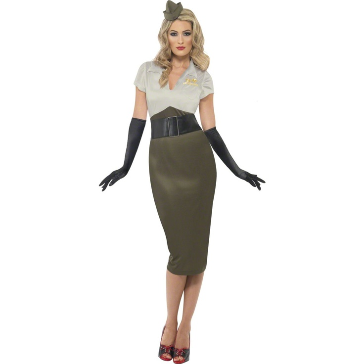 WW2 Pin Up Spice Darling Plus Adult Costume 804511