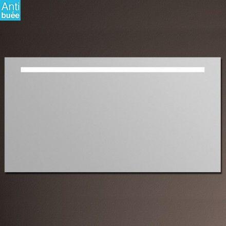 miroir lumineux salle de bain anti bu e 150x80 cm glass