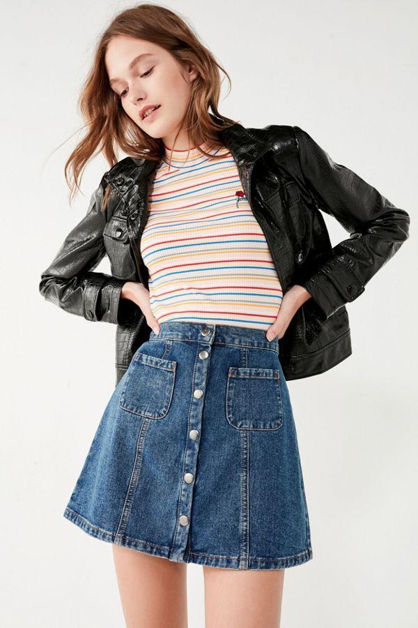 Teen jean denim skirts