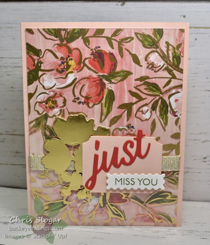 Floral and Pearl Miss You Card