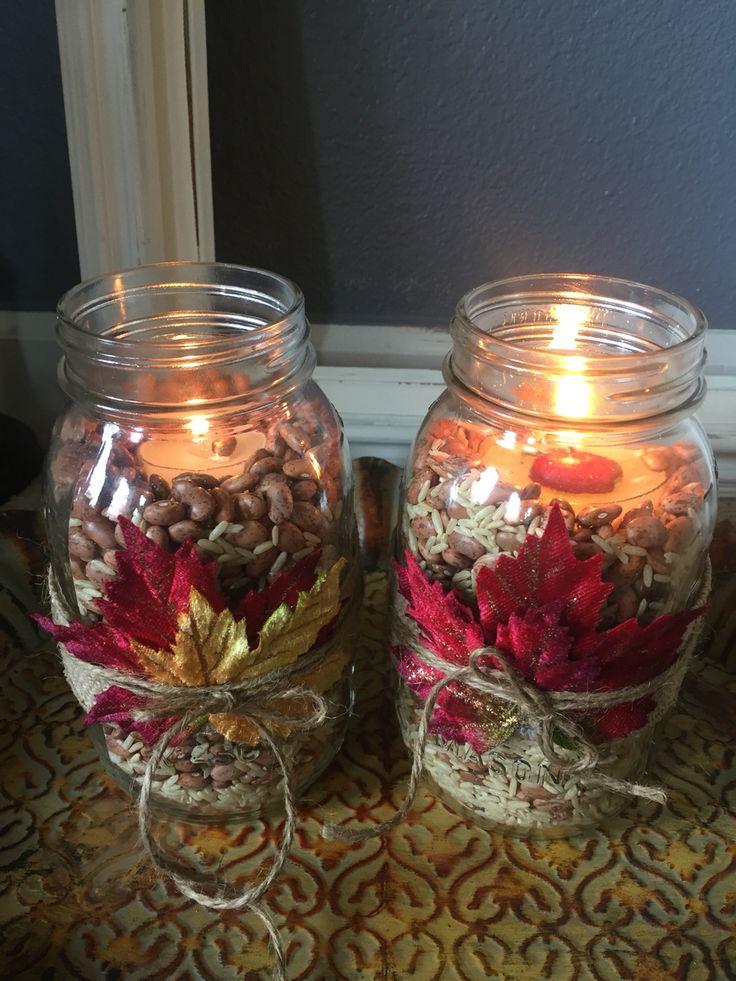 Fall mason jar decor pinteres