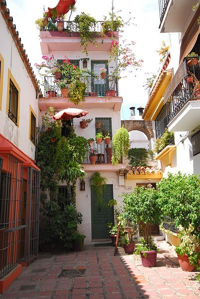 Spain. Marbella Old Town.  ( it´s called Casco Antiguo)