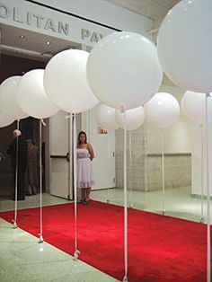 Forget ropes and stanchions to line a red carpet. Add some dimension and texture to your next event by using helium balloons. We have 4 different size tanks!