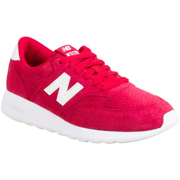 New Balance Unisex 420 Re-Engineered Sneaker ($85) ❤ liked on Polyvore featuring shoes, sneakers, red, red retro shoes, retro sneakers, red trainers, lightweight sneakers and new balance