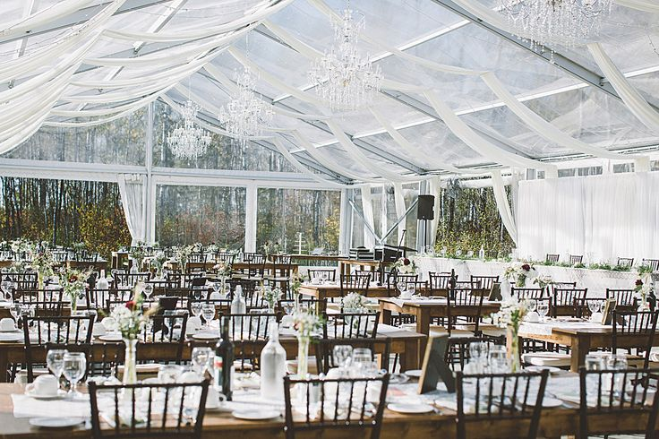 This tented space surrounded by forest at Cielo's Garden in Winnipeg is the stuff wedding dreams are made of.