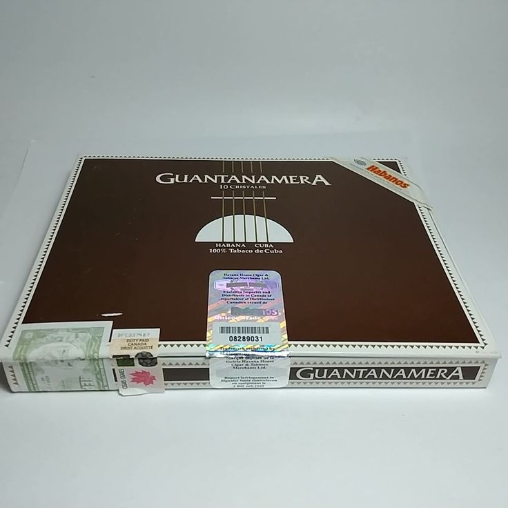 Guantanamera 10 Cristales Empty Cigar Box Habana Imported to Canada