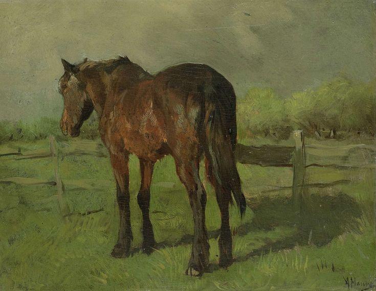 Paard, Anton Mauve, 1860 - 1888