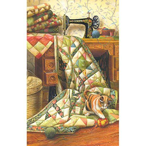 Cat on a Quilt a 1000-Piece Jigsaw Puzzle