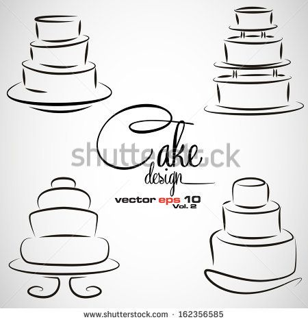 Cake Design symbol set in vector format - stock vector
