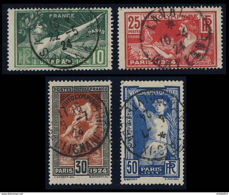 FLASH Lot Z00038 - 1924 - N°183/4 JEUX OLYMPIQUES DE PARIS OBLITÉRÉ SUPERBE - c.20€