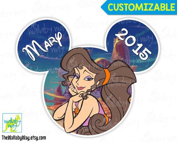 Megara Disney Hercules Printable Iron On Transfer or Use as Clip Art, DIY Disney Shirt, Personalize, Mickey, Matching Shirts, Disney Trip by TheWallabyWay on Etsy